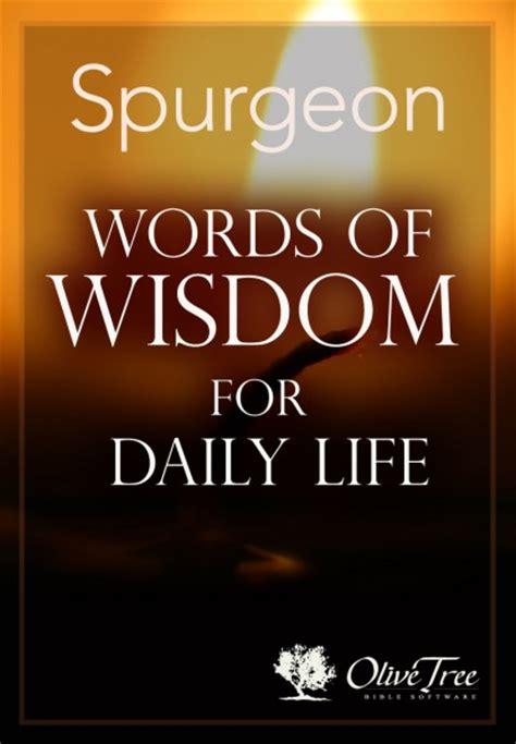 words  wisdom  daily life  charles spurgeon   olive tree bible app  ipad