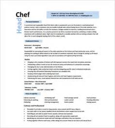 chef resume template 11 free samples examples psd