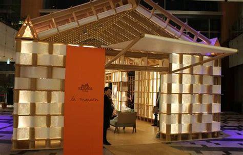 pavillon shop luxury paper pop ups hermes shigeru ban pavilion