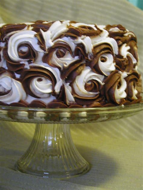 Chocolate Swirl Cake Decoration by Chocolate White Swirl Cake Cakecentral
