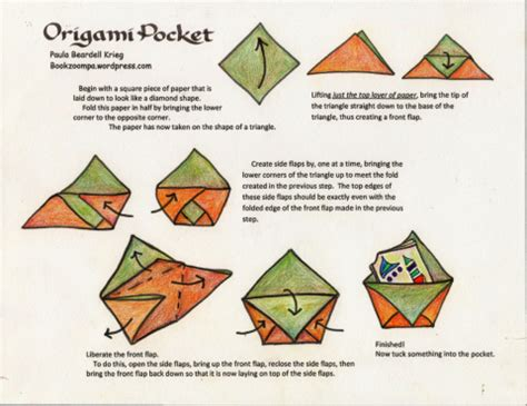 Origami Paper Works - origami pocket playful bookbinding and paper works