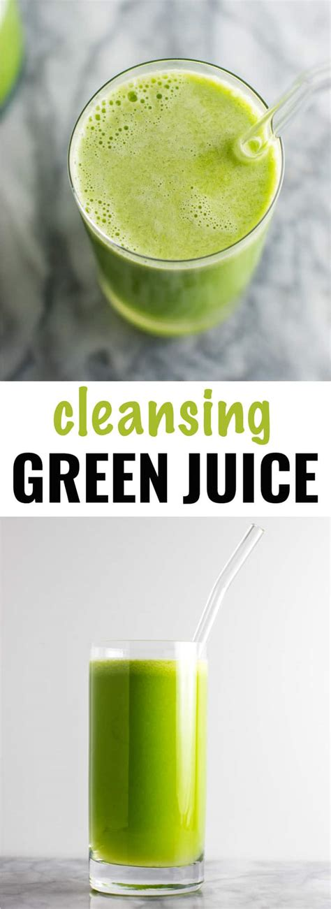 Post Vegan Binge Detox by Green Juice Recipe With Cucumbers Romaine Celery Apples