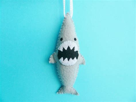christmas ornament funny ferocious shark on luulla