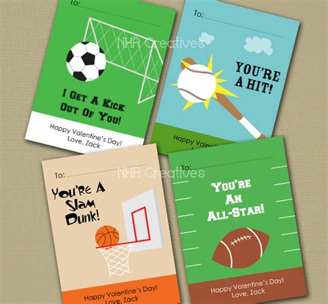 sports valentines cards personalized sports s day cards soccer by