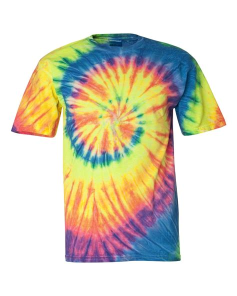 multi color shirt tie dyed multi color spiral sleeve t shirt 200ms