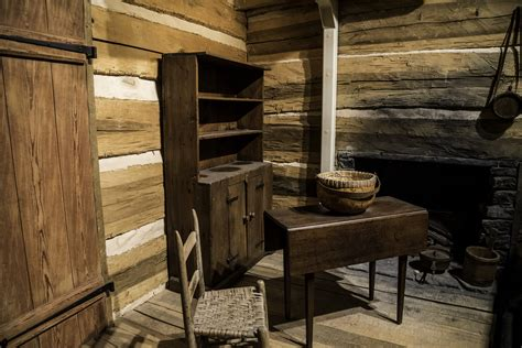 shelves  furniture  frontier house  tennessee musuem image  stock photo public