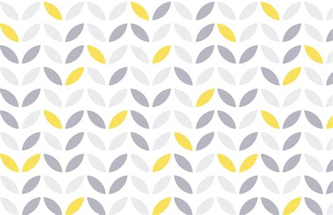 Yellow Grey Pattern Wallpaper | yellow and grey abstract flower pattern wallpaper murals