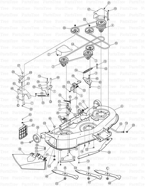 yard machine mower deck diagram mtd 13an601h729 yard machines lawn tractor 2006 home