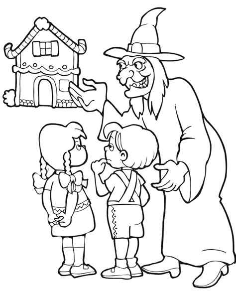 Hansel And Gretel Sheets Coloring Pages Hansel And Gretel Coloring Page