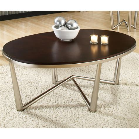 cosmo oval coffee table end tables set wood