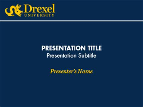 Powerpoint Identity Drexel University Academic Presentation Powerpoint Template