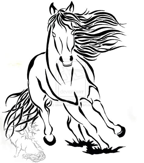 tribal horse tattoo running tribal design 57394 by silverheartx on