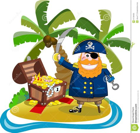 Pirate Ship Wall Mural pirate found his treasure on treasure island stock