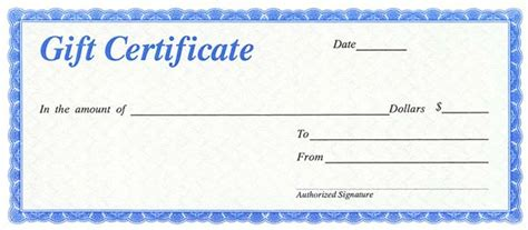 automotive gift certificate template gift certificates