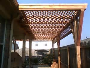 Lattice Pergola 6a cedar lattice arbor fences amp decks by t campbell