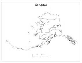 outline of map alaska blank map