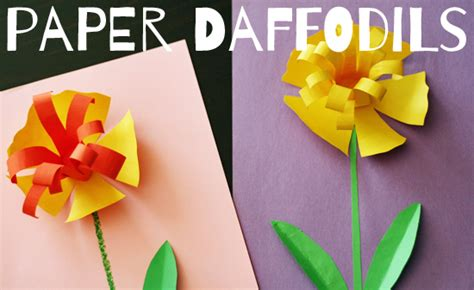 How To Make Paper Daffodils - pretty paper daffodils make and takes