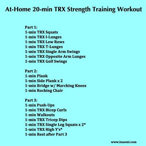 20 min at home trx workout the tao of me