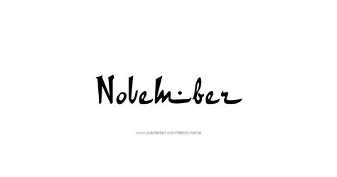 november tattoos november month name designs tattoos with names