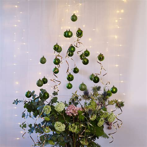how to make a christmas bauble tree good housekeeping