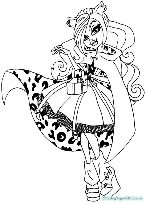 monster high coloring pages clawdeen wolf dawn of the dance monster high coloring pages clawdeen wolf dawn of the