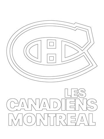 le hockey logos coloring pages free coloring pages le montreal canadiens logo coloring page free printable