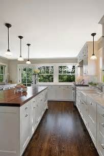 butcher block island quartz countertops light gray