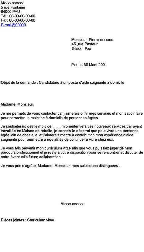 Lettre De Motivation Hotesse De Caisse Candidature Spontanée Candidature 224 Un Poste D Aide Soignante A Domicile