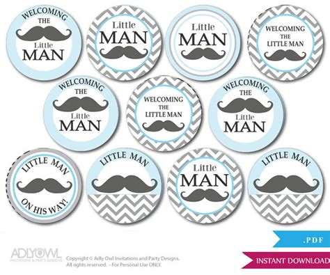 printable mustache gift tags little man mustache cupcake toppers for by