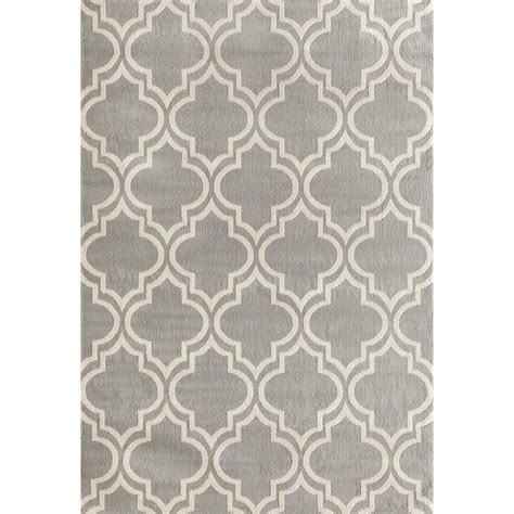 5 X 9 Area Rug World Rug Gallery Modern Moroccan Trellis Gray 7 Ft 6 In X 9 Ft 5 In Area Rug 9101 Gray 7 6