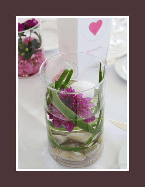 Glas Deko Hochzeit by Blummenarrangement Im Glas