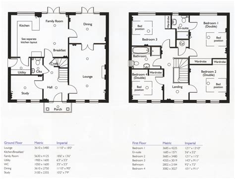 family floor plans 2 story single family home plans