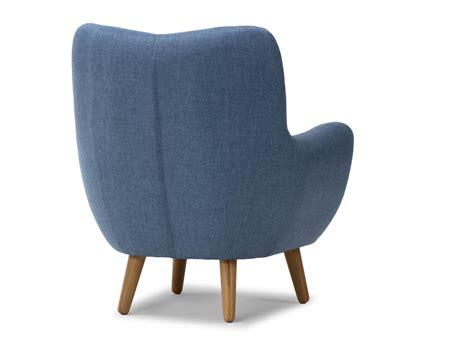 de fauteuil fauteuil frenco de style r 233 tro en tissu bleu pour salon massivum