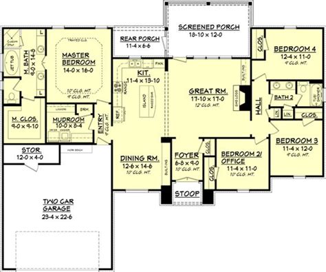 house plans 2000 square feet one story house plan 041 00082 european plan 2 000 square feet 4