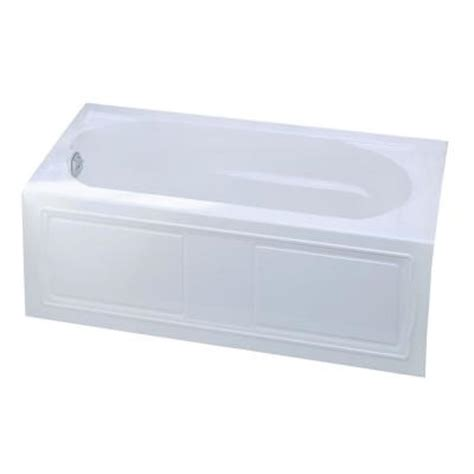 kohler bathtubs home depot kohler devonshire 5 ft left hand drain acrylic soaking