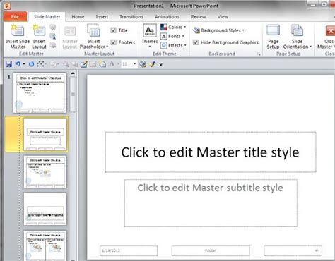 add layout powerpoint 2010 add your logo or graphic to the slide master in powerpoint