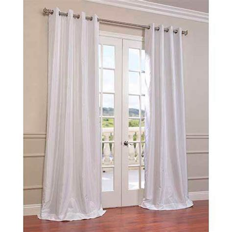 white textured curtain panels white 96 x 50 inch vintage textured grommet blackout