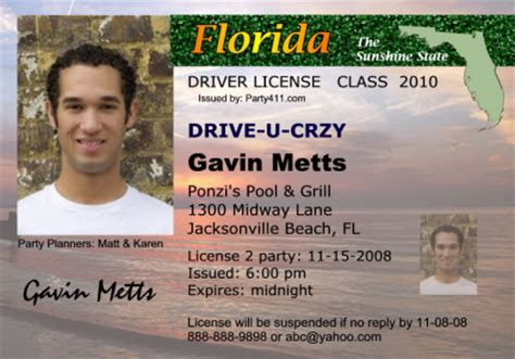 florida drivers license template psd