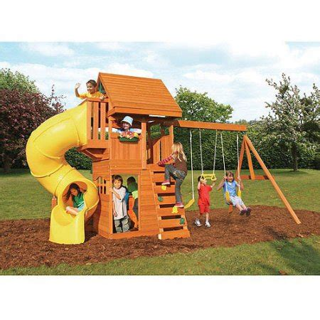 costco wooden swing sets cedar summit grandview deluxe cedar wooden swing set