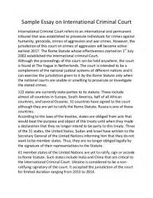 Court Essay by Sle Essay On International Criminal Court