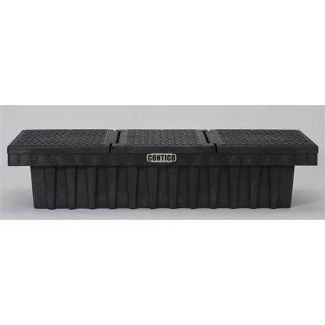 plastic truck tool box shop contico 71 25 in x 21 5 in x 16 25 in black plastic size truck tool box at lowes