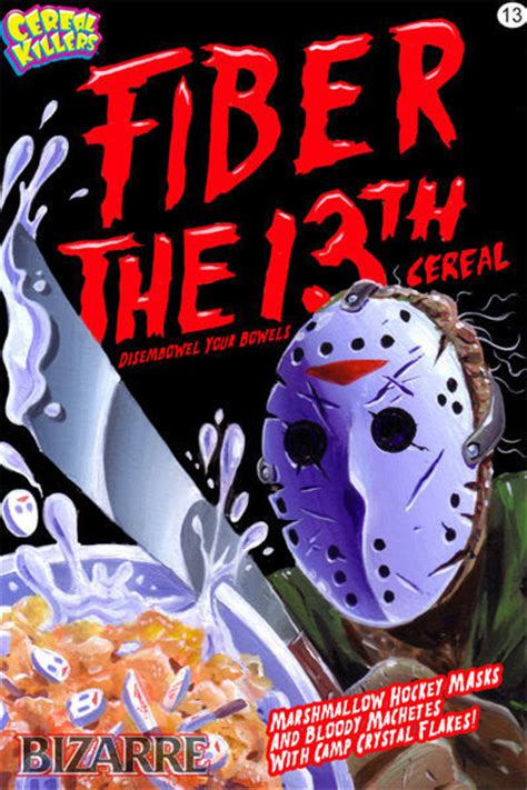 horror themes names cereal killers art by joe simko