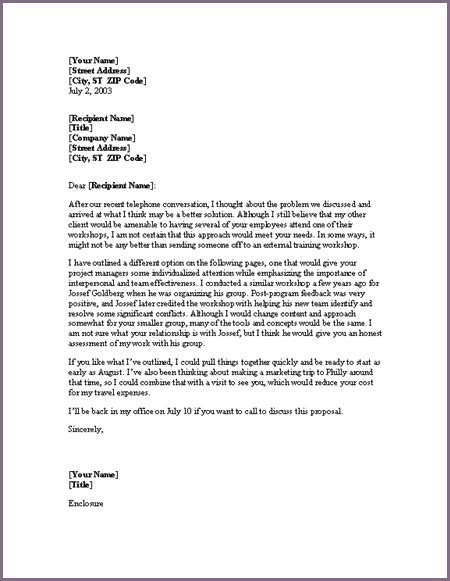 Cover Letter For Sle Proposalsleletter