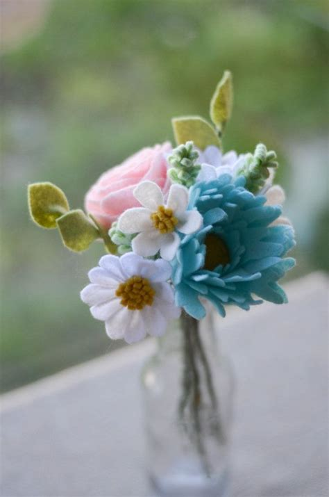 Flowers Handmade - 25 best ideas about felt flower bouquet on