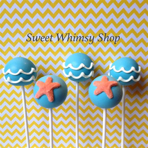 12 best images about pops beach office on pinterest 12 ocean wave starfish cake pops for beach party little