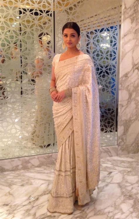 aishwarya rai sari omg aishwarya looks breathtaking in this white saree