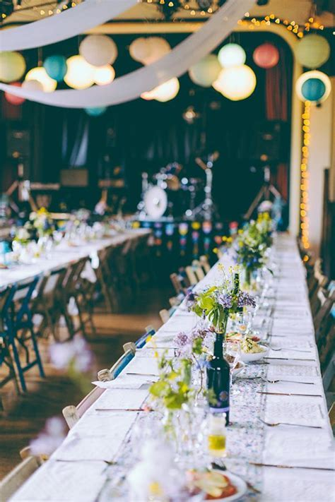 Eclectic Colourful & Quirky Homemade Village Hall Wedding