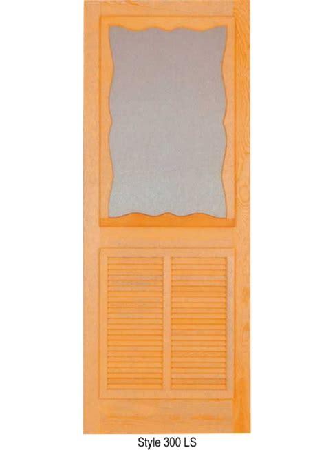 door wood insert panel wood door with louver insert in lower panel