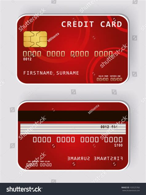 Back Of Credit Card Template Credit Card Banking Concept Front Stock Vector
