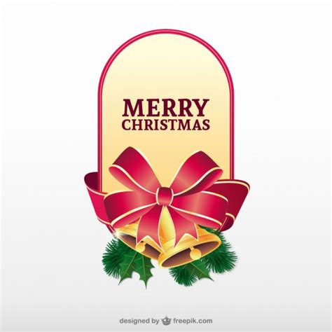 merry christmas label vector vector